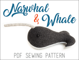 Fluffyland Narwhal Sewing Pattern, Whale Sewing Pattern PDF