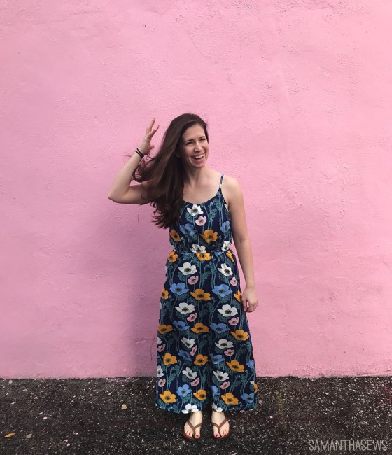 me-made may: blue poppy maxi dress
