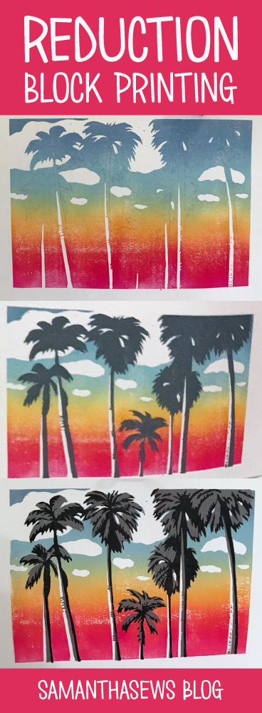 Reduction Block Printing with Rainbow Gradient - samanthasews