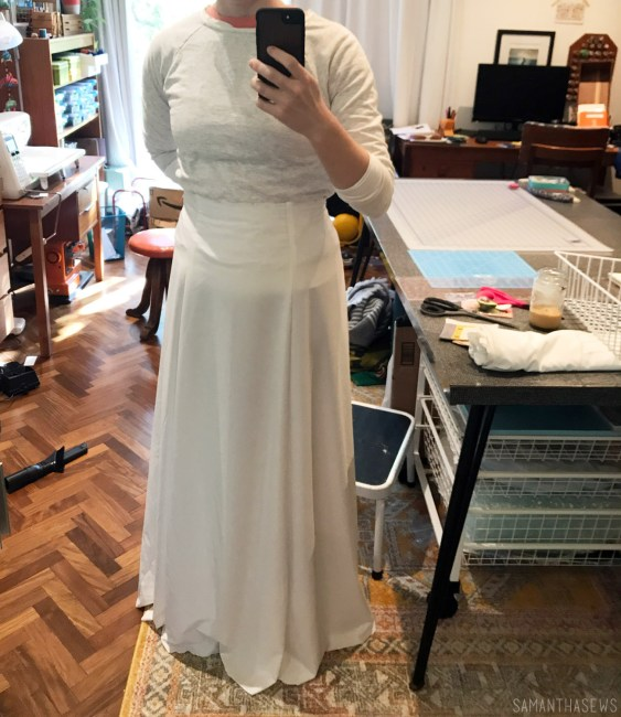 handmade wedding dress skirt muslin