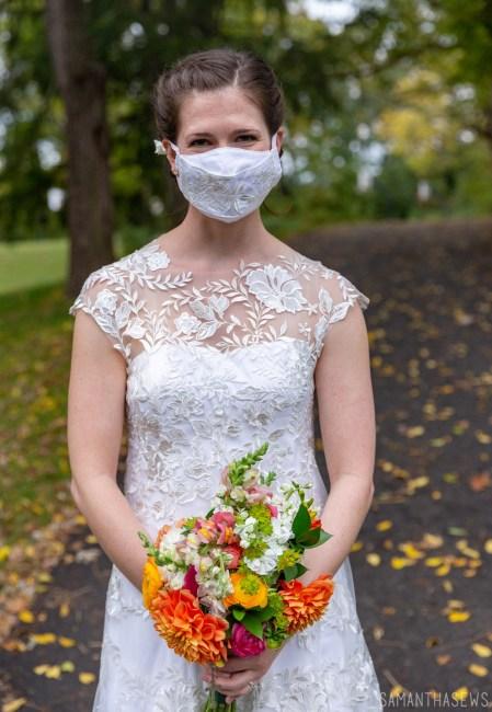 handmade wedding masks, lace wedding face mask