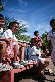 Jucuarán boys laughing