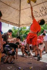 High-jump to reach the piñata