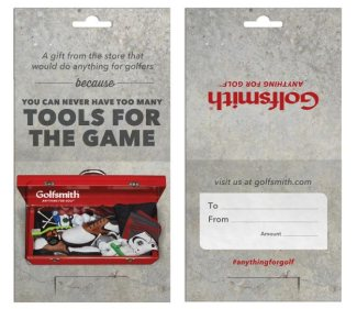 Toolbox gift card (Golfsmith)