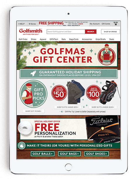 Golfsmith Holiday Gift Center 2015
