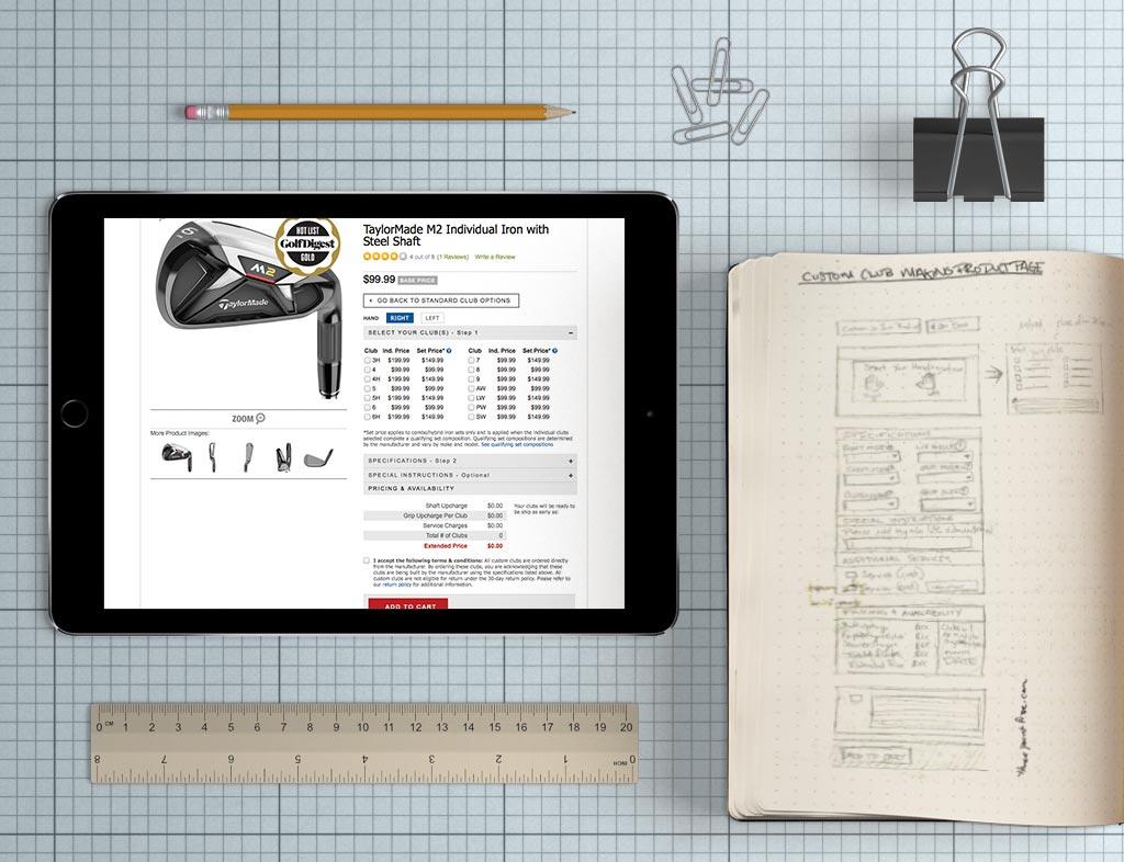Golfsmith custom clubmaking widget