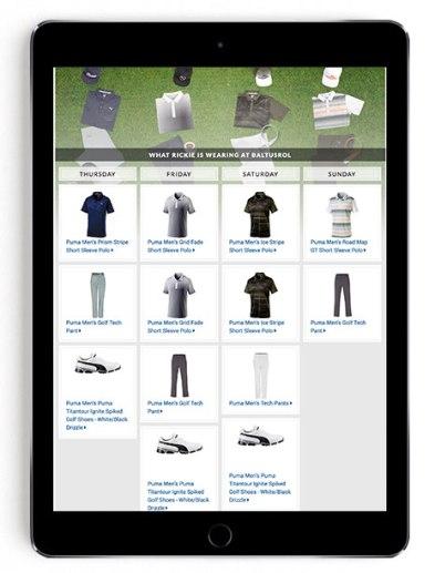 Rickie Fowler PGA Championship scripting on Golfsmith