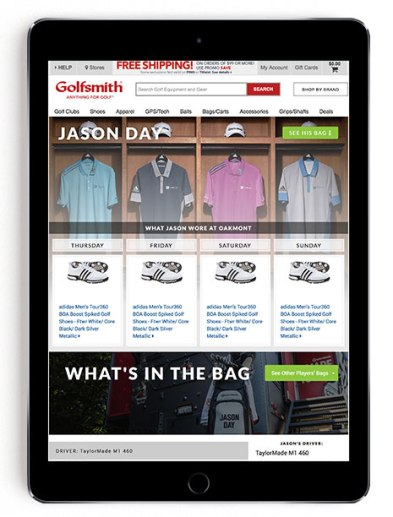 Jason Day US Open scripting on Golfsmith