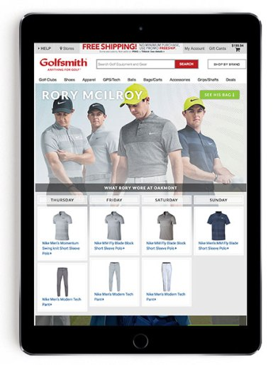 Rory McIlroy US Open scripting on Golfsmith