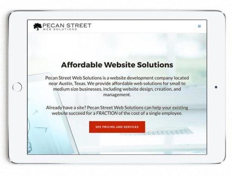 Website with Horizontal Minimal Logo