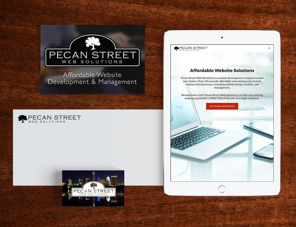 Pecan Street Web Solutions Brand Identity
