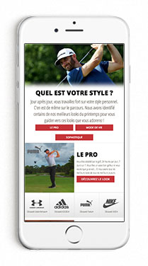 Mobile Men's Look Book Page in French