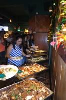Enjoying the buffet