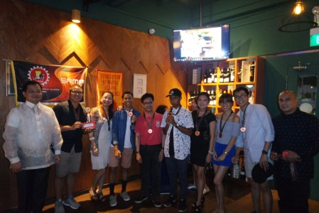 from left: Consul Mers, Christian, Carol, RJ, Louie, RJ, Zith, Mica, John, Rico