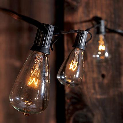 Edison string lights, cb2, $39.95