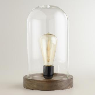 Glass cloche table lamp, World Market, $54.99