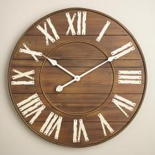 Wood wall clock, World Market, $69.99