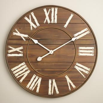 Wood wall clock, World Market, $69.99