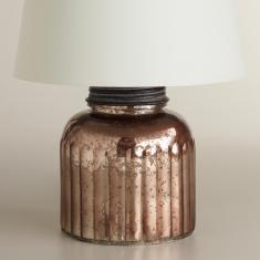 Mercury glass canister lamp base, World Market, $27.99