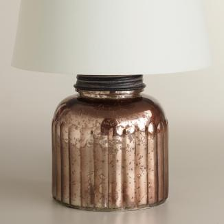 Mercury glass canister lamp base, World Market, $27.99