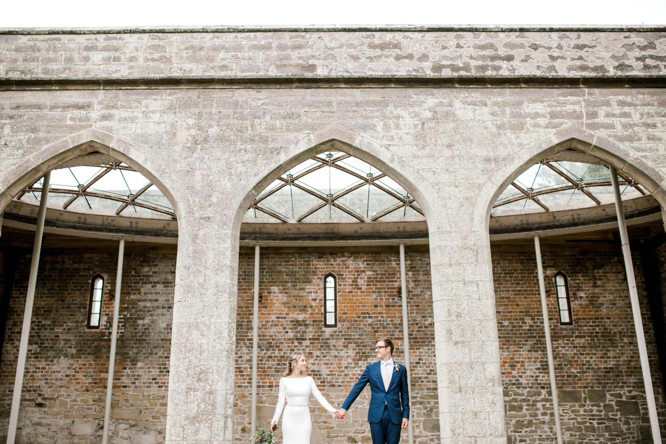 Chiddingstone Castle Wedding - Mikaella Bridal 2105 - Sam Areman Photo