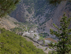 The old village of Agia Roumeli - click to enlarge