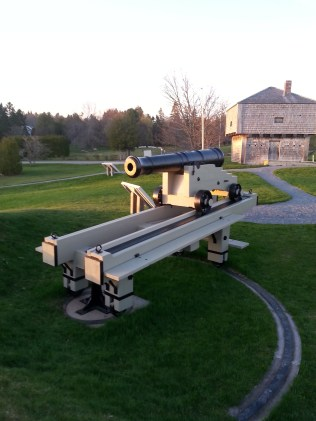 Canons and the Blockhouse in the background.