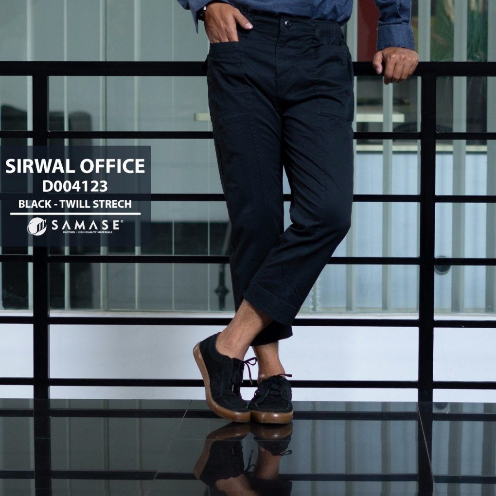 Black Sirwal Office Kode: D004123