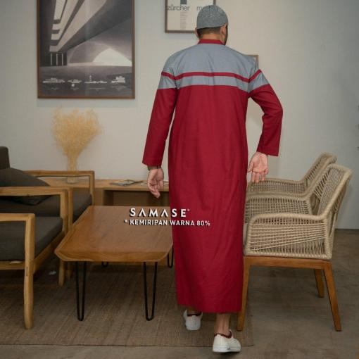 jubba-reguler-panjang-r0103-red-cotton-two-tone_4