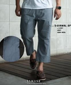 sirwal-office-j0381-grey-semi-wool