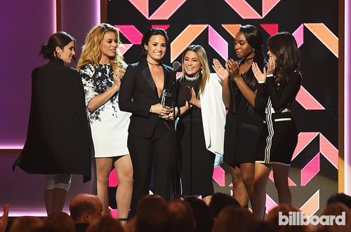 Fifth-Harmony-and-demi-lovato-onstage-02-wim-2015-billboard-1000