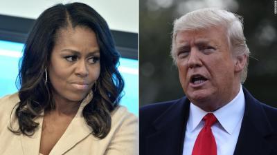 Trump celebrates women's rights — and attacks Michelle Obama