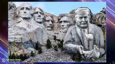 Trevor Noah says we should *actually* put Trump on Mount…