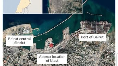 Breaking news: A large blast in Beirut, killed 70 people…