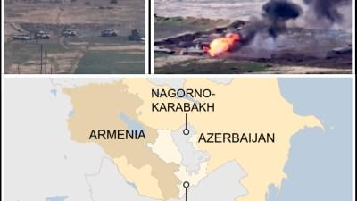 विवादित क्षेत्रलाई लिएर अर्मेनिया र अजरबैजानबीच लडाइँ : हवाई आक्रमण,…
