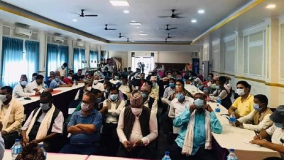 प्रदेश राजधानी दाङलाई तोक्ने प्रस्तावविरूद्ध कांग्रेस रुपन्देहीको राँके जुलुस प्रदर्शन