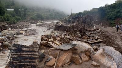वर्षा र हावाहुरीले दुई सय हेक्टरको धानबालीमा क्षति