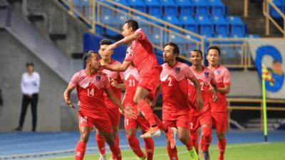 इराकसँगको मैत्रीपूर्ण खेलमा नेपाल ६–२ गोल अन्तरले पराजित