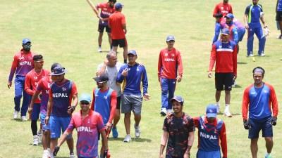 क्रिकेटको बन्द प्रशिक्षण शुरु