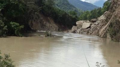 थुनिएको मस्र्याङ्दी नदी विस्तारै खुल्दै