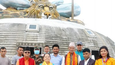 पुम्दिकोटको विशाल शिव मूर्ति उत्कृष्ट गन्तव्य : प्रदेश प्रमुख पौडेल
