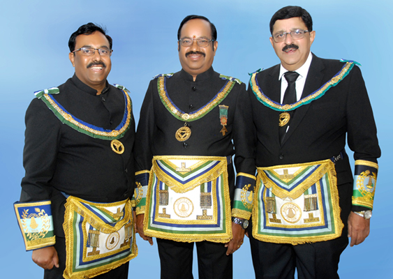 Portraits of Freemasonleadersfor Telangana areaappointed