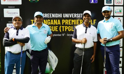 Team Mysa, Apollo Cancer Crusaders, Devpixel Devils & Classic Champs, lead in their respective groups at the end of a very competitive 4th Round at the Sreenidhi University Telangana Premier Golf League!