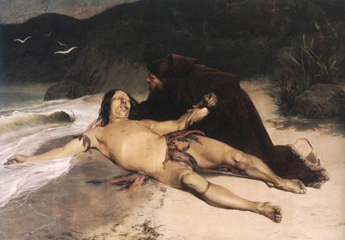 """O Último Tamoio"", quadro de 1883 de Rodolfo Amoedo retratando o extermínio dos tamoios"