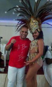 Leonardo Bessa e Melck Peixoto, rainha de bateria