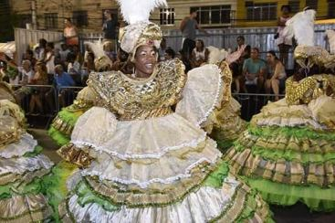 Baianas em desfile - Divulgação