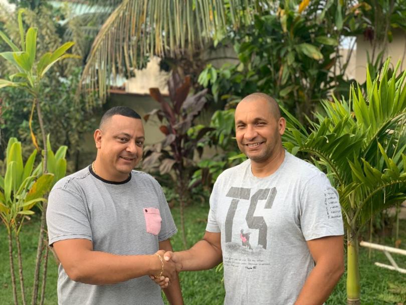 Leandro Augusto e Presidente Clayton Ferreira (1)