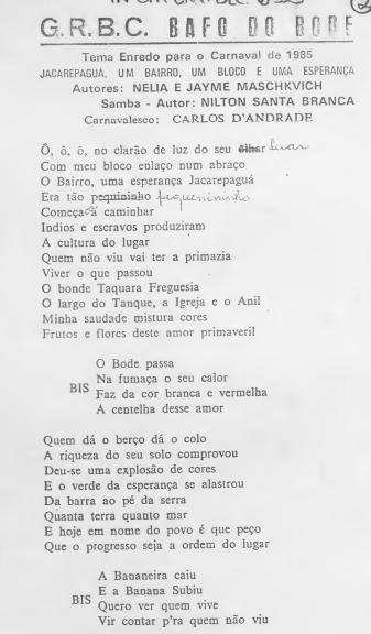 Bafo de Bode Samba