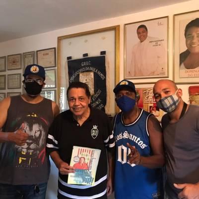 Da esquerda à direita: Flavio Viana (Vice-Presidente e Diretor de Carnaval), Marcelo Rodrigues (Presidente) e Cristiano Prado (Equipe de carnavalescos)