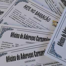 Certificados Oficinas de Adereços